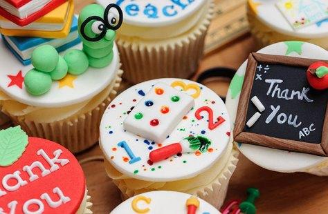 Cupcakes bedankt juf