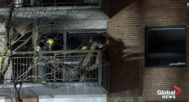 蒙城公寓楼发生火灾 疏散100个家庭