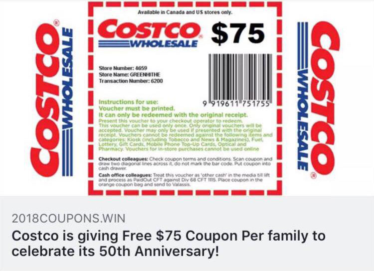 Image result for Costco 75 fausse