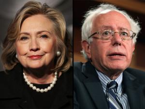 bBernie Sanders Hillary Clinton