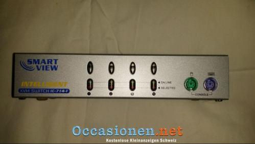 4er Smart View KVM Switch IC-714-I - 01