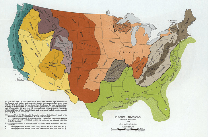 Physiographic Map Of Eastern Us Northeastern Us Physical Map - Physiographic map of the united states