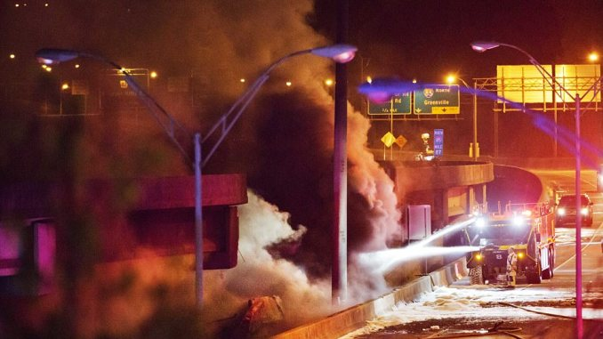 Homeless Black Crackhead Sets Fire Which Collapses I-85 In