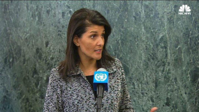 Image result for Nikki Haley Announces $285 Million Reduction to U.N. Funding