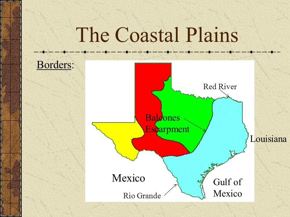Red River. Balcones Escarpment. Louisiana. Mexico. Gulf of. Mexico. Rio Grande.