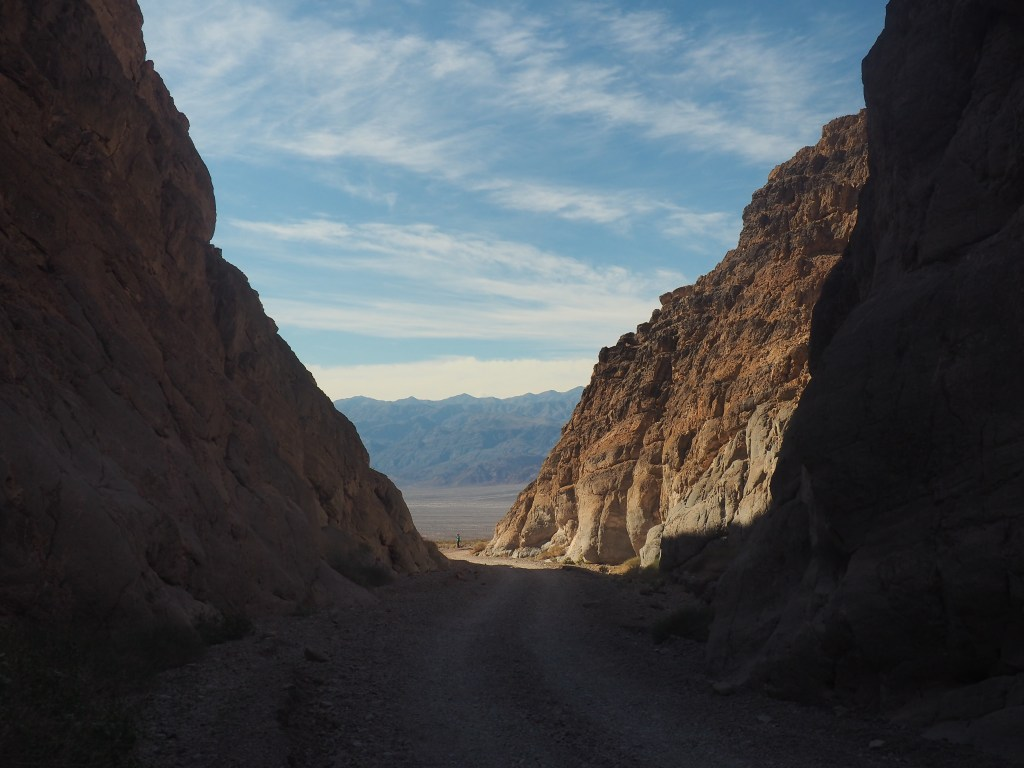 Titus Canyon opens to Death Valley