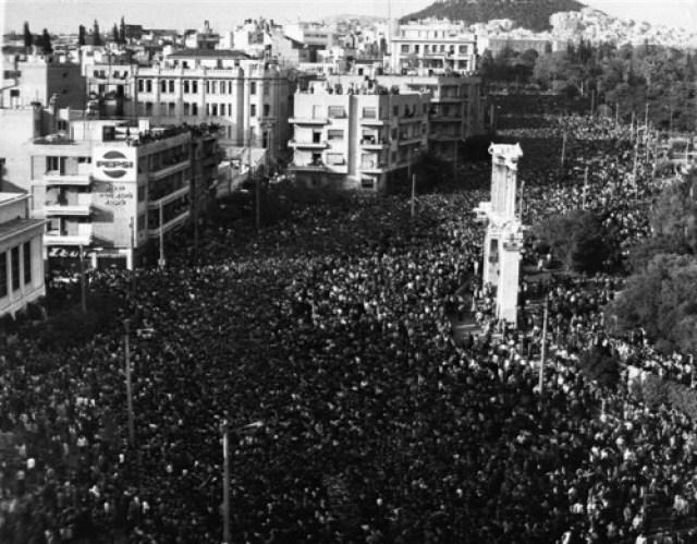 The funeral of Alekos Panagoulis, Athens, Greece