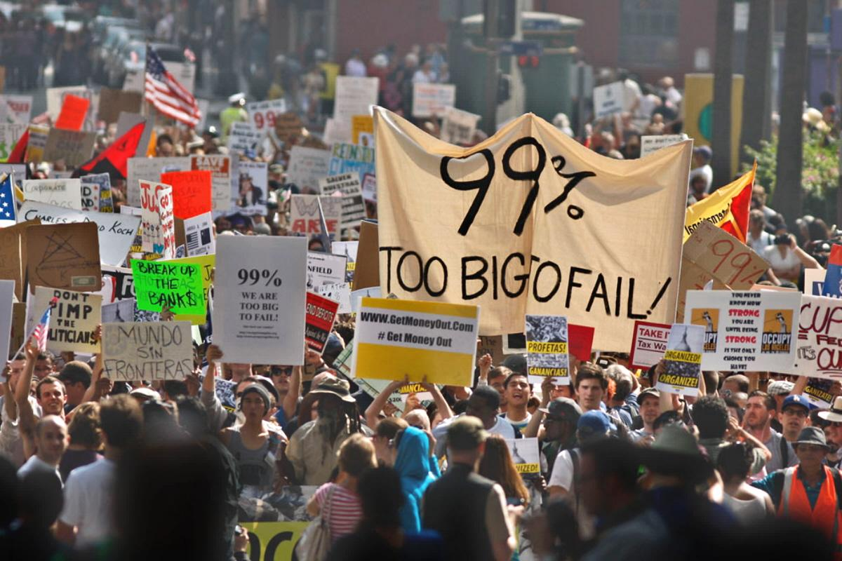 Occupy Wall Street, We Are the 99%, income inequality, wealth inequality, Bernie Sanders, Jeremy Corbyn, Kshama Sawant, student debt, Strike Debt, minimum wage movement, $15 an hour minimum wage, Fight for $15, Black Lives Matter
