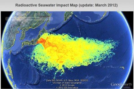 Image result for fukushima radiation nasa