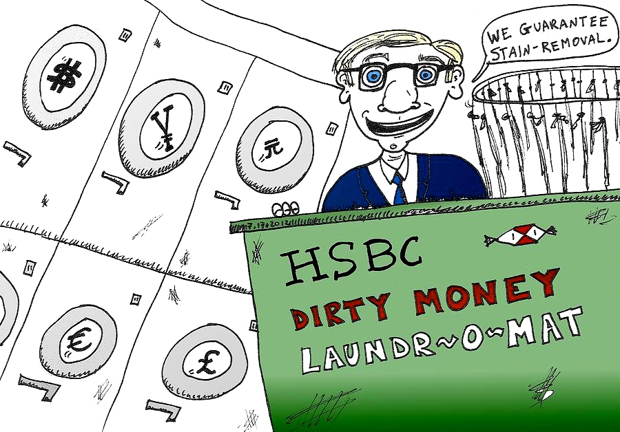 HSBC bank scandal, cartoon
