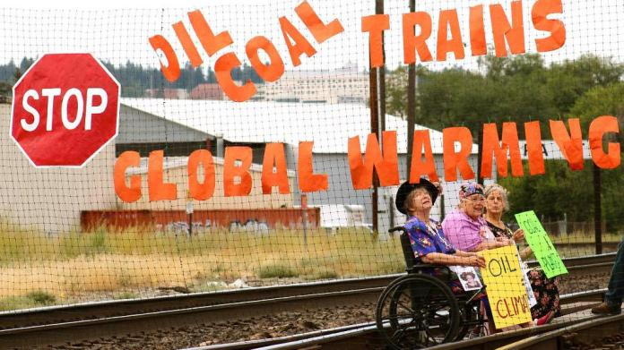 right to a clean climate, climate lawsuit, Community Environmental Legal Defense Fund, fossil fuel trains, coal trains, oil trains, climate resistance, climate protests