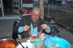 Glen decided salad forks work great!
