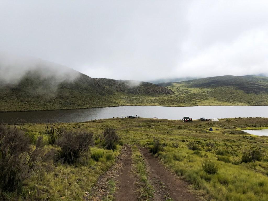 Hiking to Lake Ellis, Mt Kenya