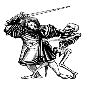 Thanks to AJ and OpenClipart for this image of man fighting death.