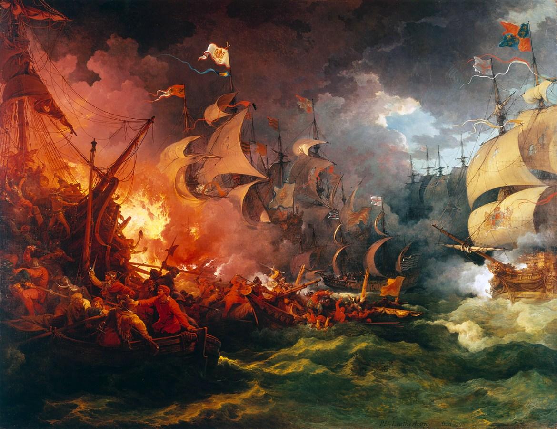 Invincibile Armada Di Philip James de Loutherbourg- mine navali