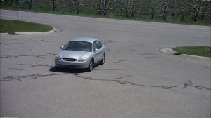 The suspect vehicle allegedly used in the gas drive-offs.