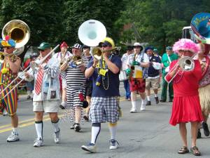 The Scottville Clown Band is a big attraction during Saturday's Grand Parade, which begins at 4 p.m.