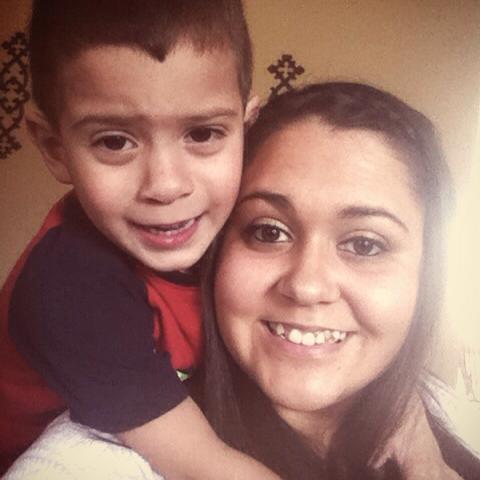 Jayden, 3, and Avonlea Hernandez, 21.
