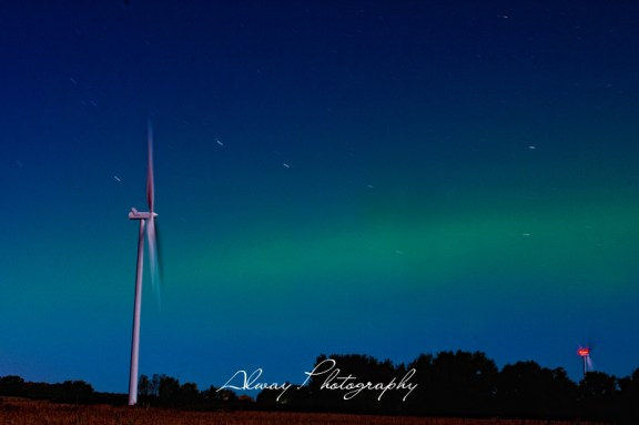 The northern lights in Mason County's Riverton Township, Sept. 2012.