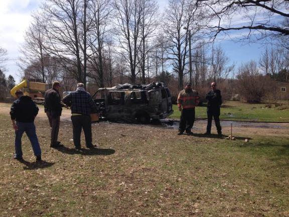 Man severely burned in van fire1