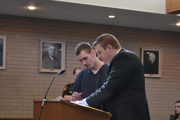 Jay Ball with his attorney, Ryan Kacel.