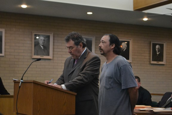 Richard Wilson, at right, with his attorney, Rick Prysock.