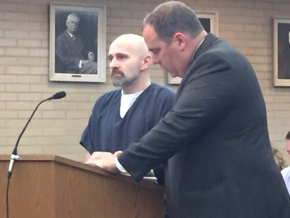 James Grabinski with his attorney. Tim Hayes.