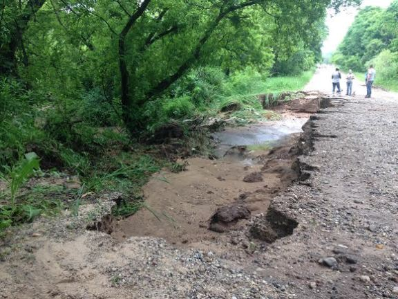 In Benona Township, 56th Avenue between Stone Road and Marshville Dam Road is closed due to a huge washout.