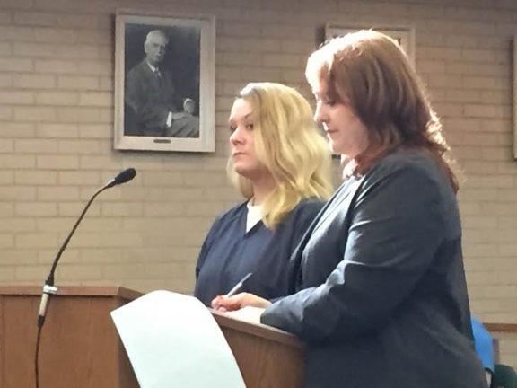 Jennifer Curtis with her attorney, Julie Springstead Waltz.