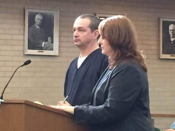 Raymond Kirby, with his attorney, Julie Springstead Waltz.