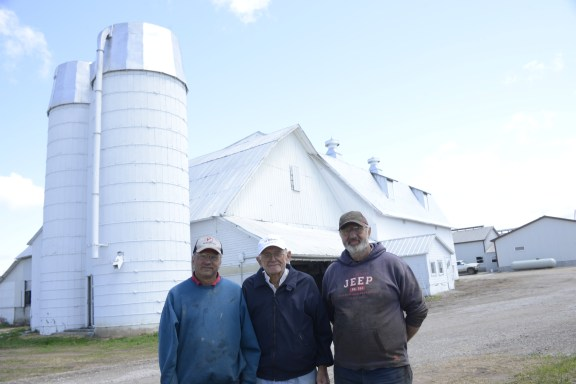 From left, Bill, Ed and Carl Stakenas.