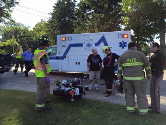 truck v motorcycle crash