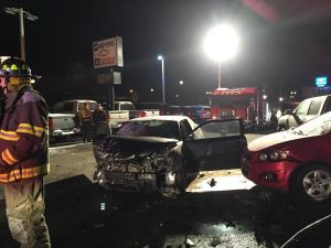 The Toyota Scion that caused the crash.