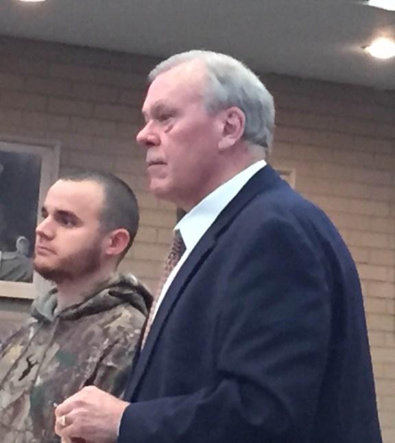 Eli Obradovich, at left, with his attorney Eric Boeschenstein.