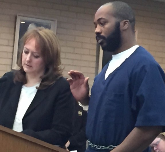 Christopher Edwards with his attorney, Julie Springstead Waltz.