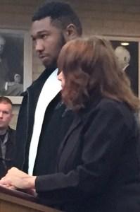 Marlon Ezell with his attorney, Lynn Bremer.