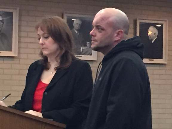 Anthony Priese with his attorney, Julie Springstead Waltz.