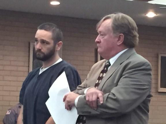 Jason Barnes with his attorney, John Greer.