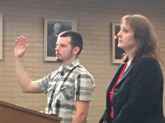 Cory Lidke with his attorney, Julie Springstead Waltz.