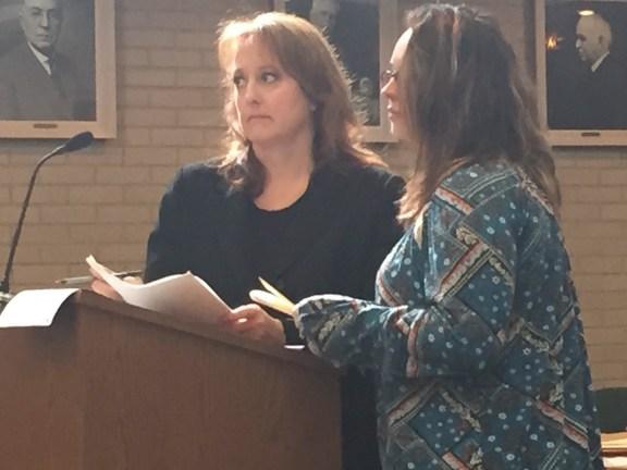 Kimberly Nicosia with her attorney, Julie Springstead Waltz.
