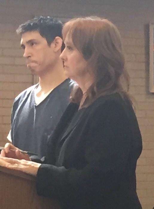 Alejandro Salazar  with his attorney, Julie Springstead Waltz.