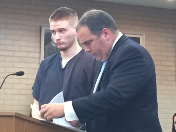 Richard Wiegand with his attorney, Timothy Hayes.