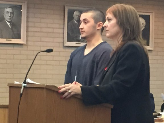 Steven Rice with his attorney, Julie Springstead Waltz.