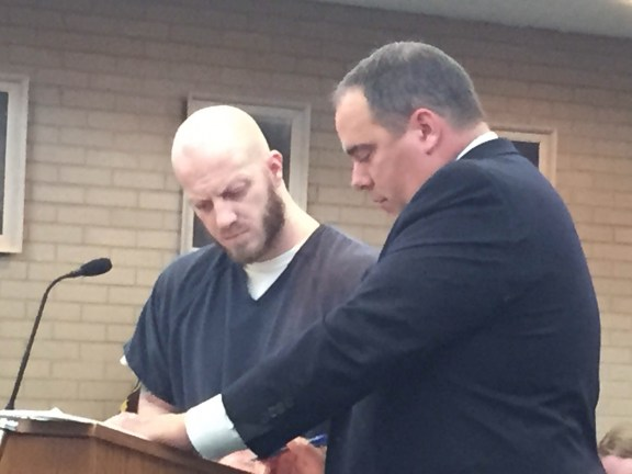 Robert Cupps with his attorney, Timothy Hayes.
