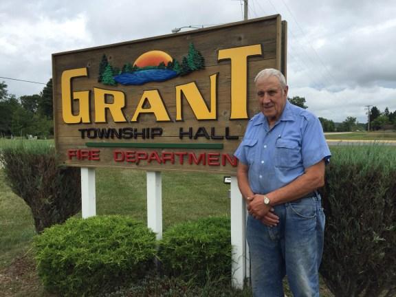 Long-time Grant Township Clerk Bill Wagner.