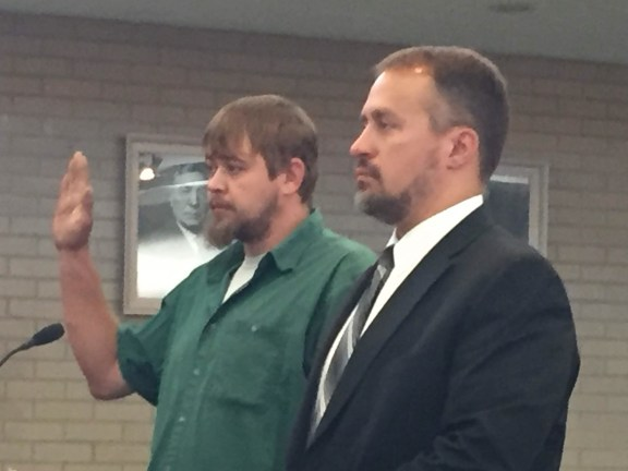 Maxwell Turple with his attorney, Ryan Good.