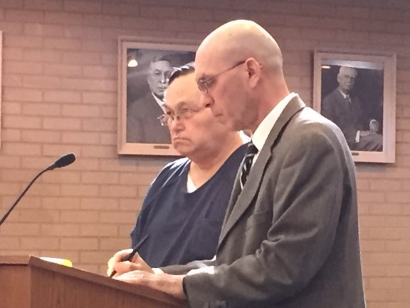 Victor Gonzalez with his attorney, John English.