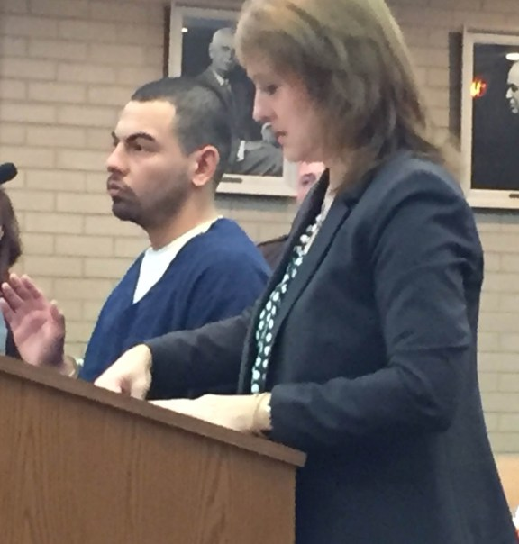 Bernabe Luevano with his attorney, Julie Springstead Waltz.