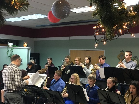 The Hart High School Jazz Band under the direction of John Taranko.