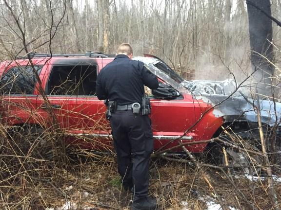 jeep crash, fire